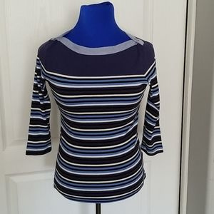 Tommy Hilfiger ladies boatneck striped top size s